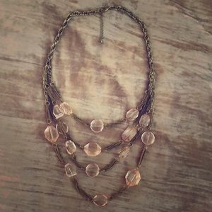 Forever 21 Pink/Gold Statement Necklace